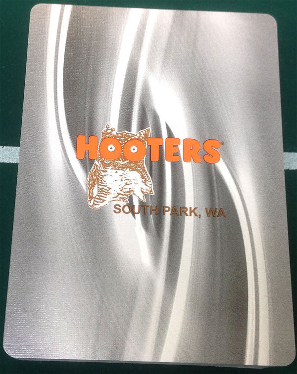 HOOTERS 1 NEW BLACK DECK OF CASINO SOUTH PARK, WA PLAYING CARDS