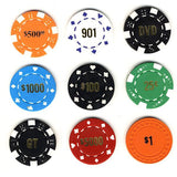 Custom Hot Stamping For Plain Poker Chips - Spinettis Gaming - 1