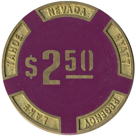 Hyatt Lake Tahoe $2.50 chip