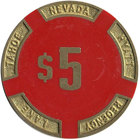 Hyatt Regency $5 (red) chip - Spinettis Gaming - 2