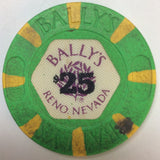 Bally's Casino Reno $25 (green 1986) Chip - Spinettis Gaming - 3