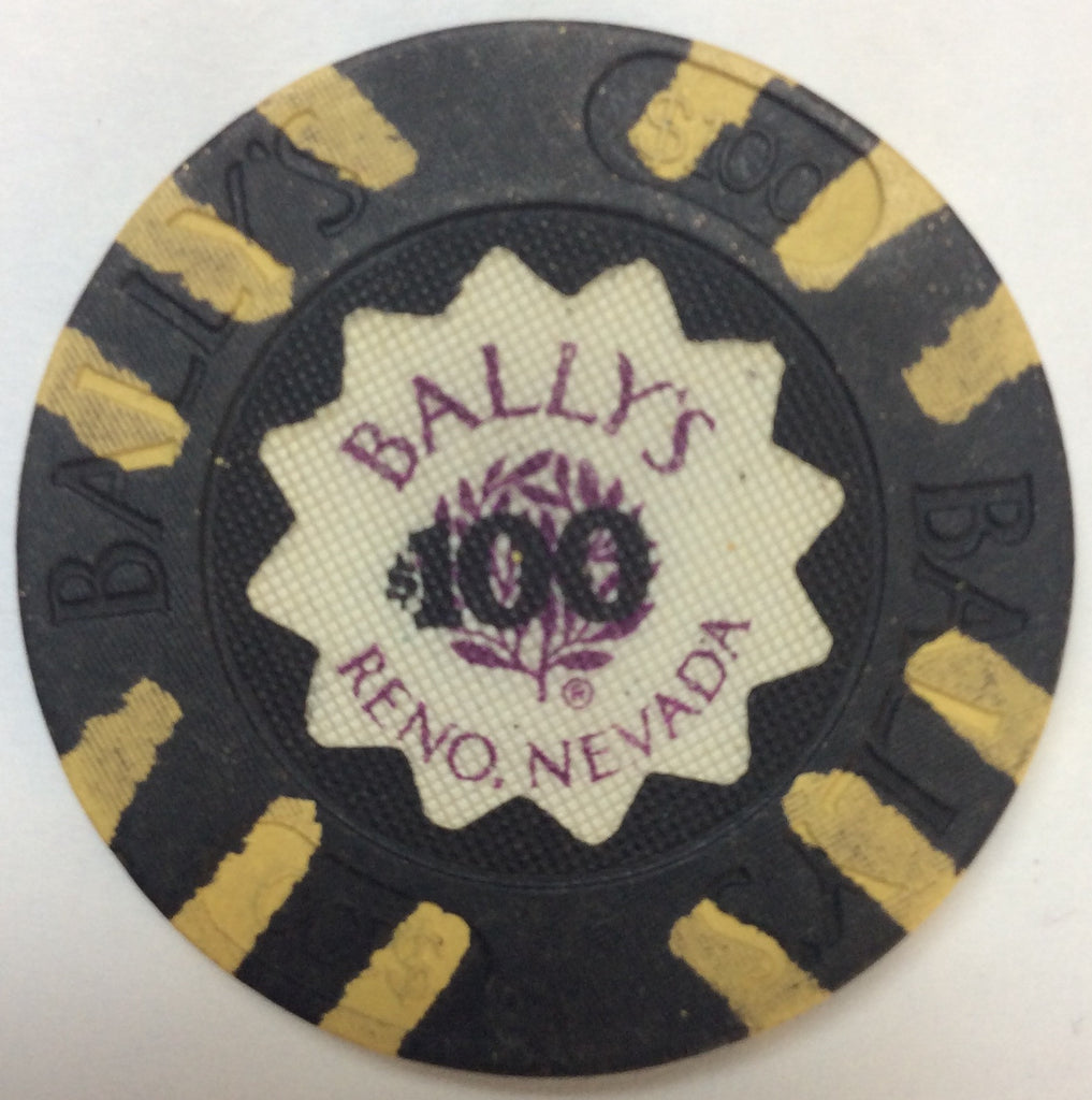 Bally's Reno $100 Casino Chip 1986