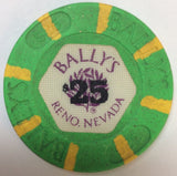 Bally's Casino Reno $25 (green 1986) Chip - Spinettis Gaming - 2