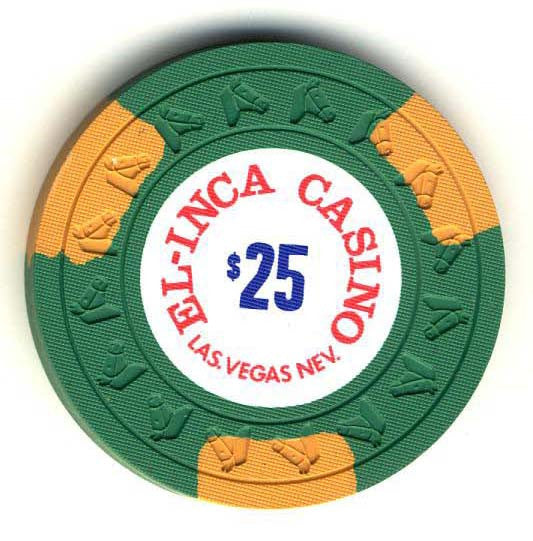 El Inca $25 (green 1977) Chip - Spinettis Gaming - 1