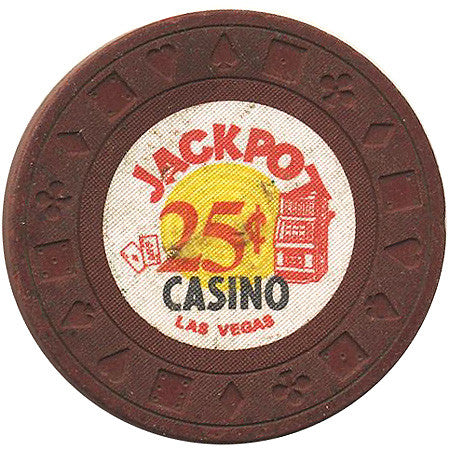 Jackpot $.25 (brown) chip - Spinettis Gaming - 1