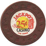 Jackpot $.25 (brown) chip - Spinettis Gaming - 2