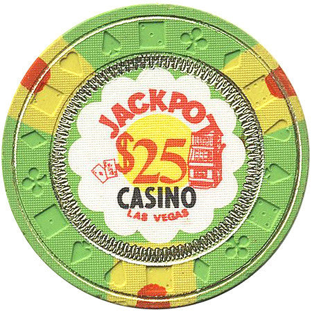 Jackpot $25 (green) chip - Spinettis Gaming - 1