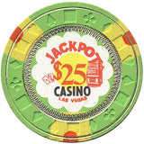 Jackpot $25 (green) chip - Spinettis Gaming - 2