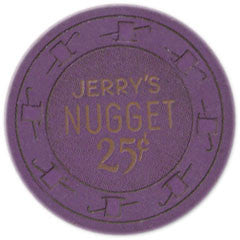Jerry Nugget 25 Casino Chip N. Las Vegas Nevada H&C Mold 1960's - Spinettis Gaming - 1