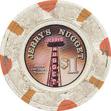 Jerry's Nugget Casino Las Vegas $1 Chip Small Inlay 2013