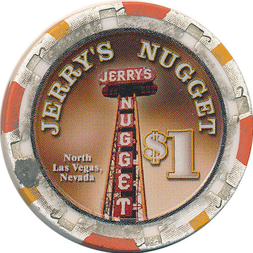 Jerry's Nugget North Las Vegas $1 Casino Chip Large Inlay - Spinettis Gaming