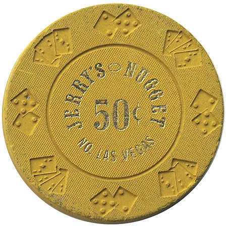 Jerry's Nugget Casino North Las Vegas 50 Cent Chip 1970s