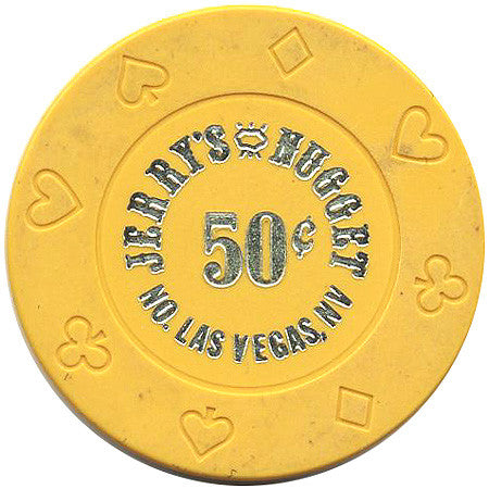 Jerry's Nugget 50cent yellow chip