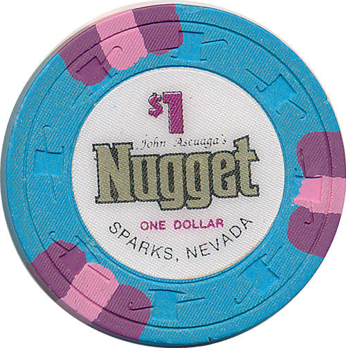 John Ascuaga's Nugget Sparks $1 Casino Chip 1990s