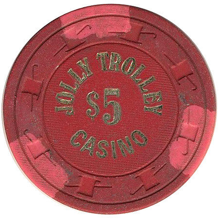 Jolly Trolley Casino $5 (red) chip - Spinettis Gaming - 1