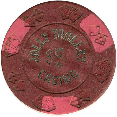 Jolly Trolley Casino $5 chip