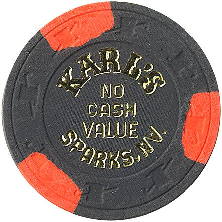 Karl's charcoal (No Cash Value) chip - Spinettis Gaming - 1
