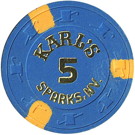 Karl's 5 (No Cash Value) chip - Spinettis Gaming - 1