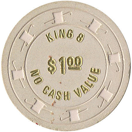 King 8 Casino $1 NCV (beige) chip - Spinettis Gaming