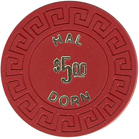 Hal Dorn $5 (red) chip - Spinettis Gaming - 1