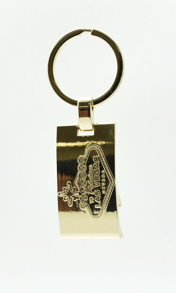 Key Chain - Las Vegas Sign Bottle Opener Gold