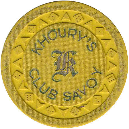 Khoury's Club Savoy (yellow) chip