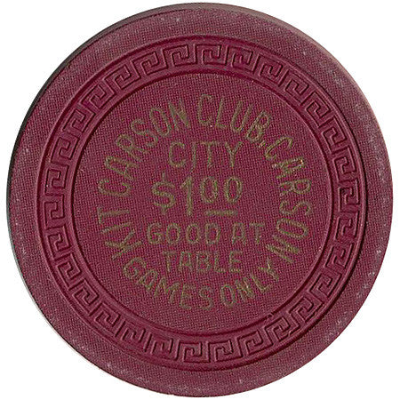 Kit Carson Club $1 chip - Spinettis Gaming - 1