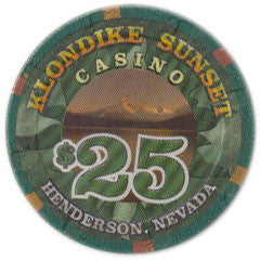 Klondike Sunset $25 Casino Chip H&C Paulson Henderson Nevada 1999