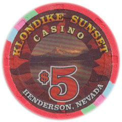 Klondike Sunset $5 Casino Chip Henderson Nevada 1999