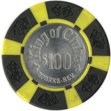 King of Clubs $100 chip - Spinettis Gaming - 1