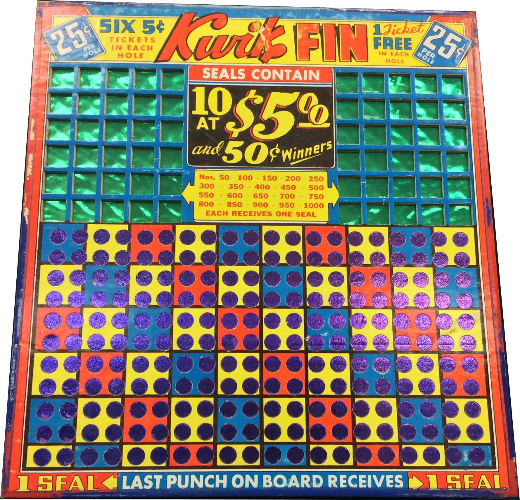 Kwik Fin Punchboard - Spinettis Gaming - 1