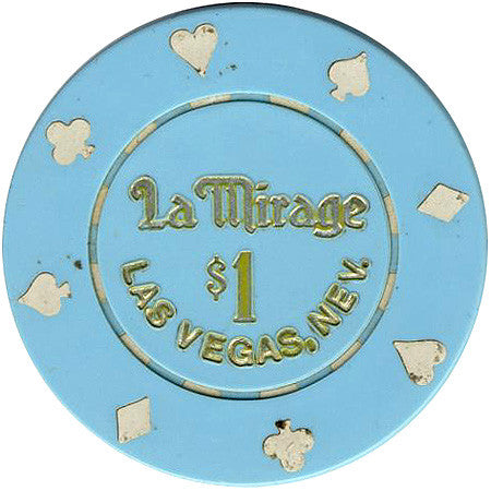 La Mirage Las Vegas $1 (light blue) chip