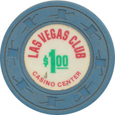 Las Vegas Club Casino $1 Chip 1970