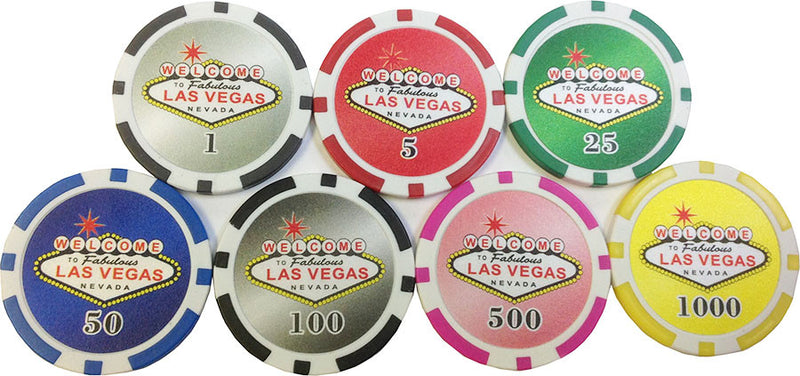 Las Vegas Sign Collector Set 7 Chips - Spinettis Gaming - 1
