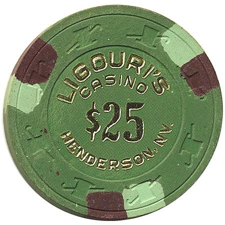 Ligouri's Casino $25 (green) chip