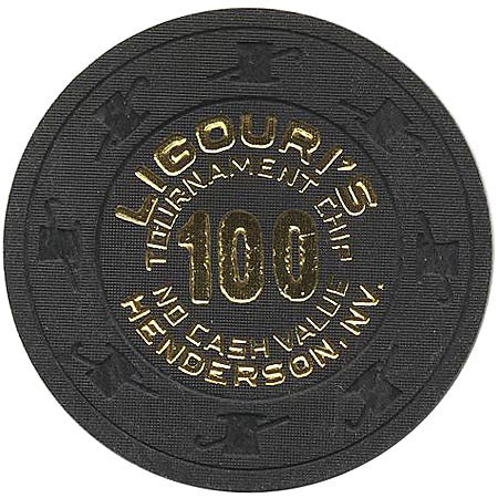 Ligouri's Casino 100 (Tournament-No Cash Value) chip