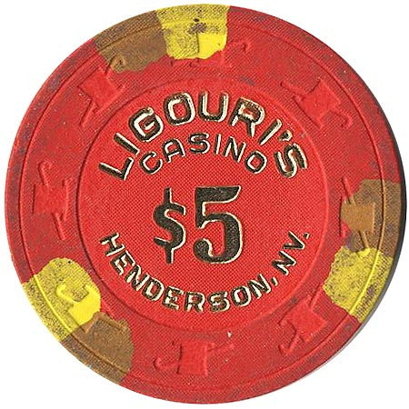 Ligouri's Casino $5 (red) chip