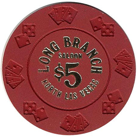 Long Branch $5 (red) chip - Spinettis Gaming - 2