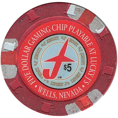Lucky J's Casino Wells NV $5 Chip 1994
