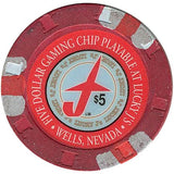 Lucky J's $5 chip - Spinettis Gaming - 1