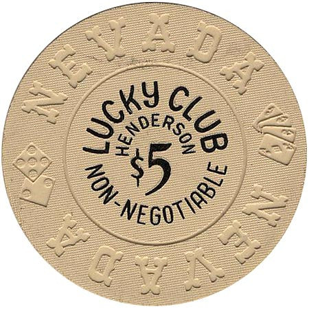 Lucky Club $5 (beige) chip - Spinettis Gaming - 1