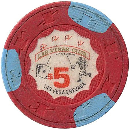 Las Vegas Club $5 (red) chip - Spinettis Gaming - 1
