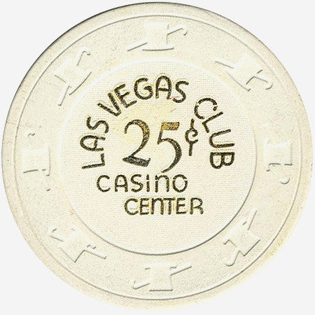Las Vegas Club 25 (white) chip - Spinettis Gaming - 1