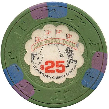 Las Vegas Club $25 (green) chip - Spinettis Gaming - 1