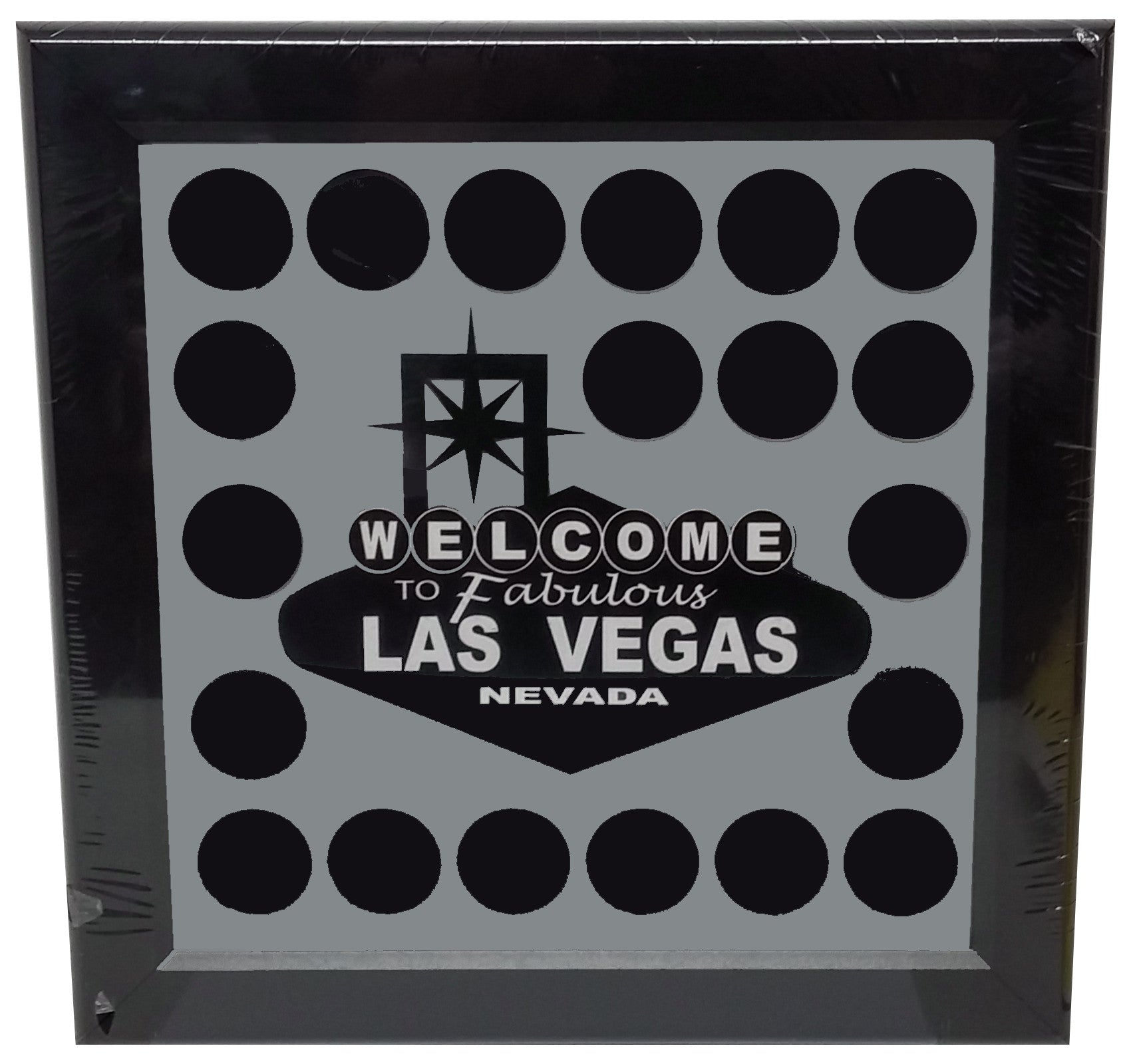 Welcome To Fabulous Las Vegas Chip Frame   Spinettis Gaming Supplies