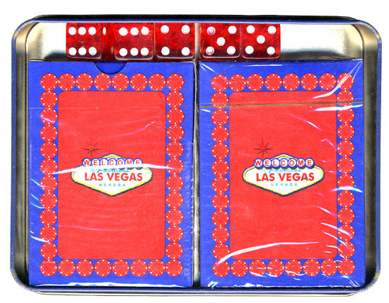 Las Vegas Poker Playing Cards with Dice in Tin Box - Spinettis Gaming - 2