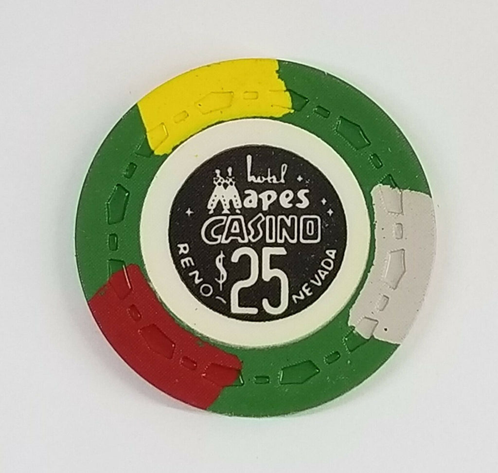 Mapes Casino Reno NV $25 Chip 1969