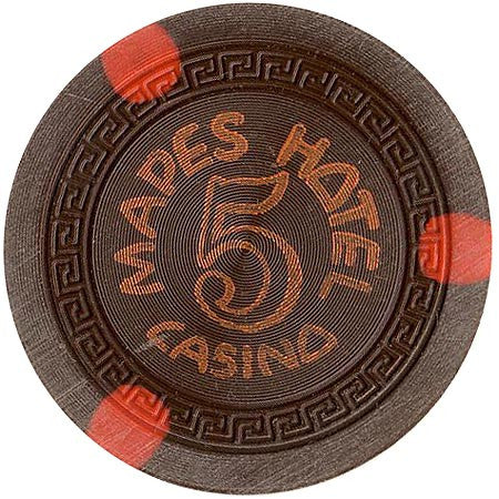 Mapes Casino brown (3-orange inserts) chip - Spinettis Gaming - 1