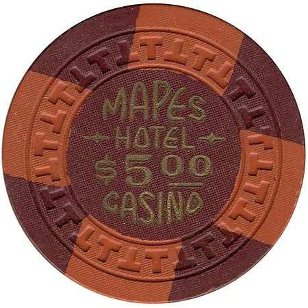Mapes Casino $5 (brown) chip - Spinettis Gaming - 1