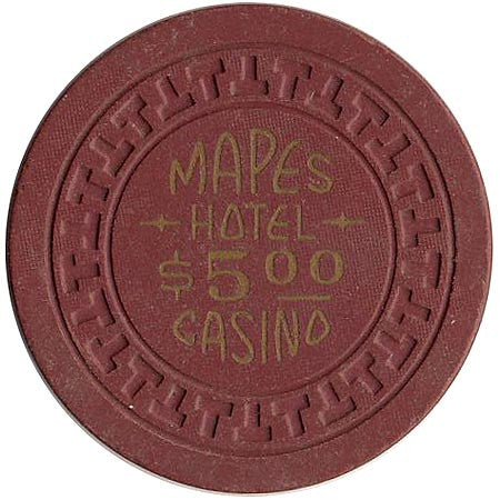 Mapes Casino $5 (burgundy) chip - Spinettis Gaming - 1